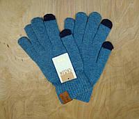 Перчатки мужские для сенсорных экранов Touch Screen SnowMaster blue