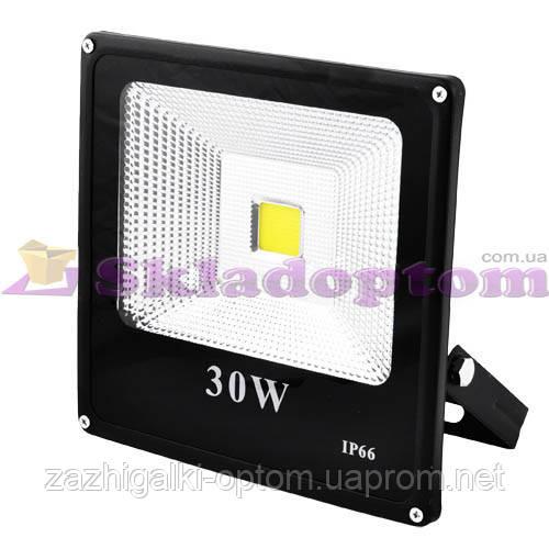 Прожектор светодиодный матричный SLIM YT-30W SMD, 2700Lm, IP66 (влагозащита) - 30**