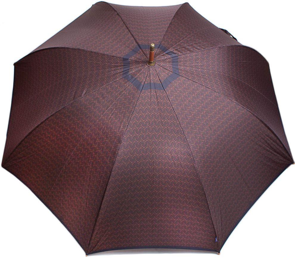 Стильный мужской зонт-трость, полуавтомат с большим куполом ZEST (ЗЕСТ) Z41652-5