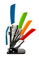 """Ножи керамические на подставке (Набор 4 ножа + чистилка)(3"""" 4"""" 5"""" 6"""")"""