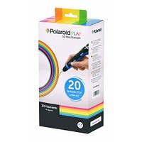 Polaroid Набор нити 1,75 мм PLA для ручки 3D Polaroid PLAY (20 цветов) (PL-2500-00)