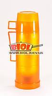 Термос 500мл пластиковый со стеклянной колбой (цвет - оранжевый) Stenson DB105T