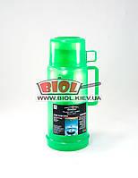 Термос 1л пластиковый со стеклянной колбой (цвет - зеленый) Stenson DB245T