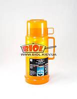 Термос 1л пластиковый со стеклянной колбой (цвет - оранжевый) Stenson DB245T, фото 1