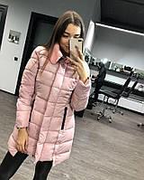 Женская куртка со съемным меховым воротником Батал