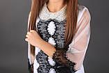 Школьная нарядная блузочка с воротником из биссера МОНЕ р-ры 122,128,140,146,152, фото 3