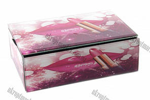 "Шкатулка стеклянная Lipstick (18.5x12x6.5 см) ""LP"" купить оптом со склада"