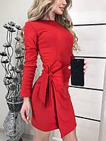 Нарядное платье с запахом Marsel  красное , фото 1