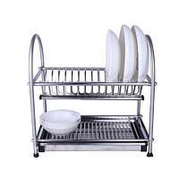 Сушилка нержавейка для посуды двух ярусная WDJ-345