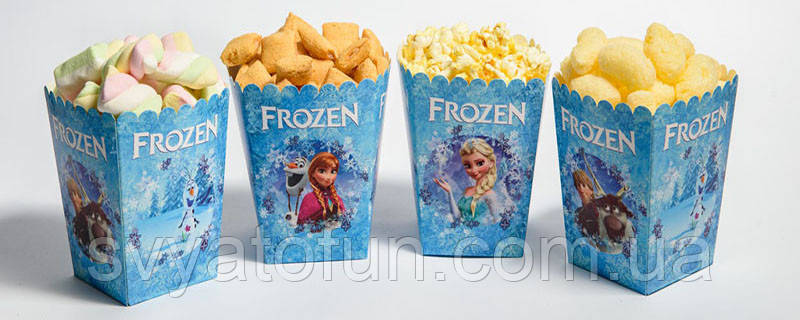 """Коробочка для попкорна и сладостей """"Холодное сердце"""""""