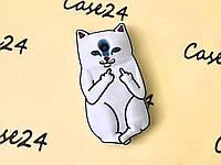 Резиновый 3D чехол Finger cat для Meizu M2 (M2 Mini)