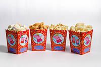 """Коробочка для попкорна и сладостей """"Свинка Пеппа"""""""