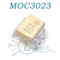 MOC3023, Оптопара с симисторным выходом, DIP6
