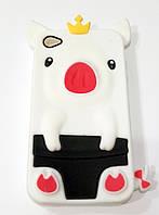 Чехол детский силиконовый игрушка свинка для iPhone 4/4s