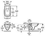 Унитаз подвесной Roca Debba Rimless A34H99L000 с сидением Soft-close, фото 3