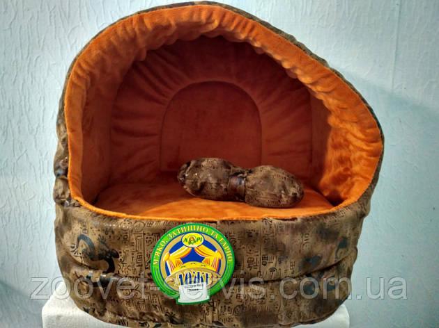 Будка для кошек Зима с плюшем 425*375*375, фото 2