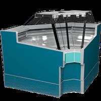 Витрина холодильная угловая Geneva-D-УВ ОС РОСС (выносной холод)