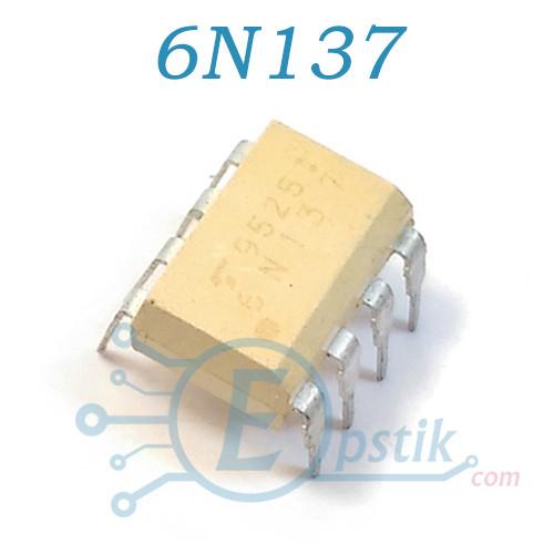 6N137, оптопара високошвидкісна, DIP8