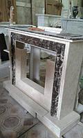Мраморный камин в современном стиле