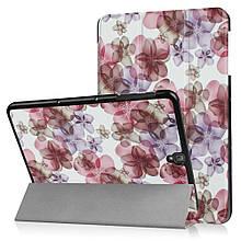 Чехол книжка с рисунком Tri-fold для Samsung Galaxy Tab S3 9.7 T820 T825 Beautiful Flowers