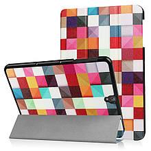 Чехол книжка с рисунком Tri-fold для Samsung Galaxy Tab S3 9.7 T820 T825 Colorful Triangle Grid