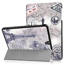 Чехол книжка с рисунком Tri-fold для Samsung Galaxy Tab S3 9.7 T820 T825 Eiffel Tower and Map
