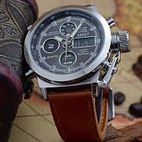 Ударопрочные и водонепроницаемые армейские наручные часы AMST (ОРИГИНАЛ) + Нож-кредитка в подарок!