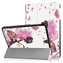 Чехол книжка с рисунком Tri-fold для Samsung Galaxy Tab S3 9.7 T820 T825 Flowered Girl with Wings