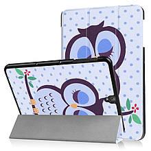 Чехол книжка с рисунком Tri-fold для Samsung Galaxy Tab S3 9.7 T820 T825 Owl Napping on Branch