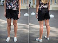 Женские джинсовые шорты черные The Bark