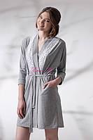 Домашній халат з поясом та кишенями LDG 031-001