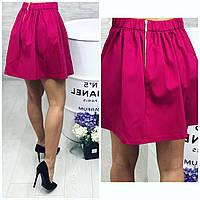 Розовая юбка мини