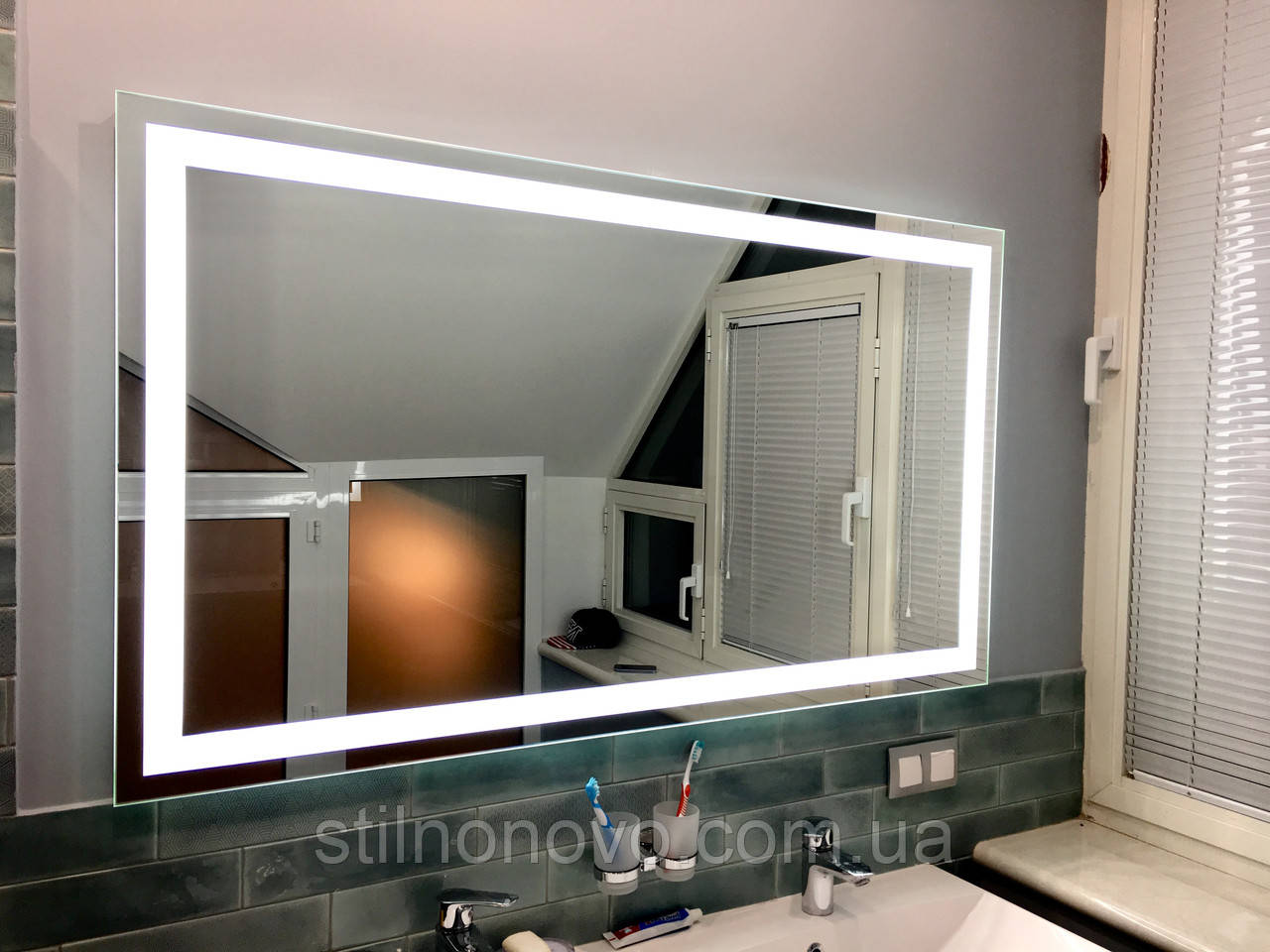 Зеркало ванной комнаты цена Смеситель Nice Borgo Vecchio Leva N-1900-35CR для кухонной мойки
