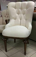 """Крісло на дерев'яних ніжках в замшевій оббивці """"Деко"""", фото 2"""
