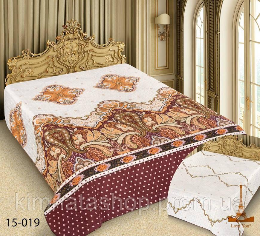 Покрывало на кровать Love you  Барокко 15-019 (220*240 см) двухстороннее