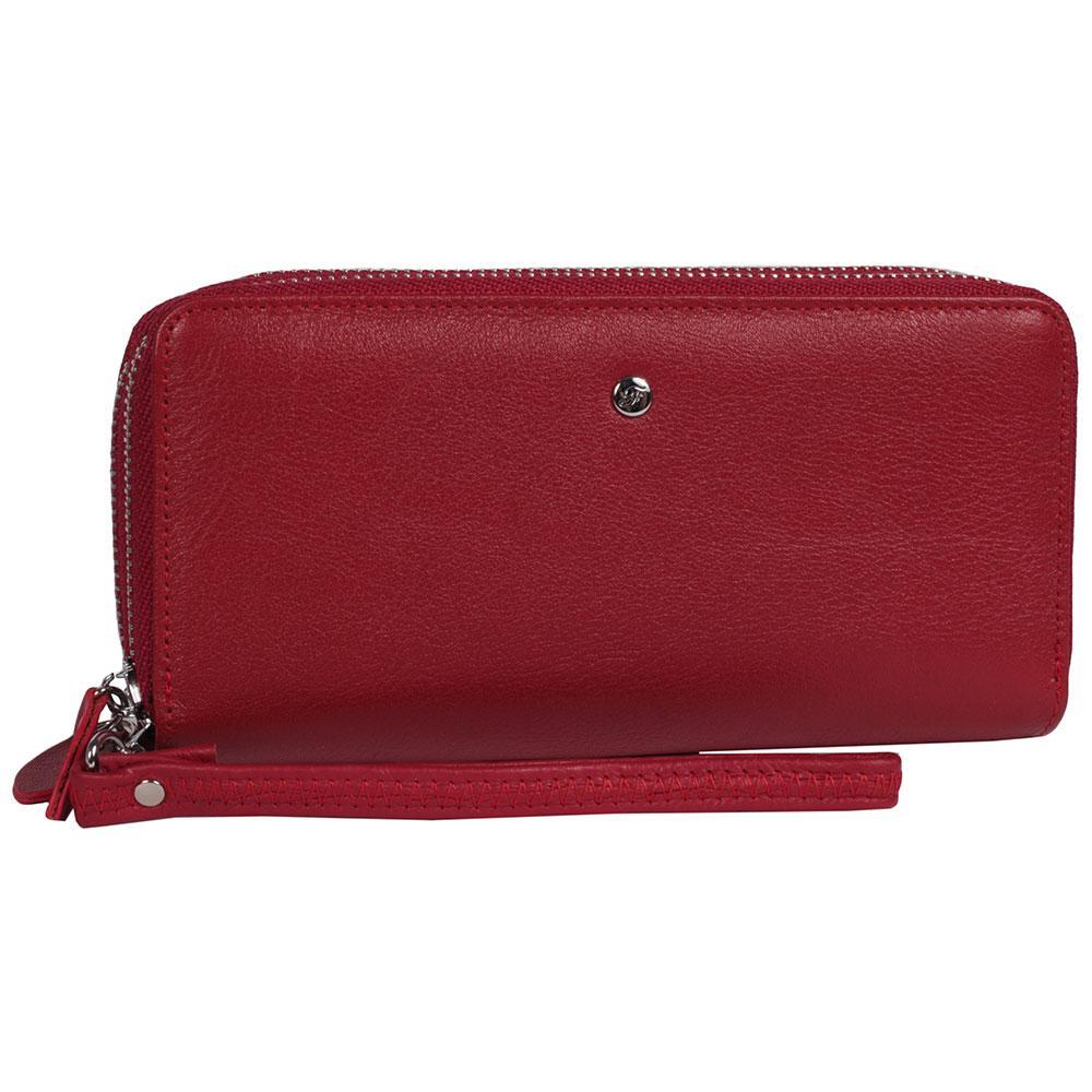0a0c32138d3a Вместительный женский кожаный кошелек на две молнии черный AL-W38-2RED -  АксМаркет в