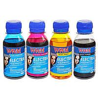 Комплект чернил WWM ELECTRA для Epson Водорастворимые 4х100г B/C/M/Y универсальные