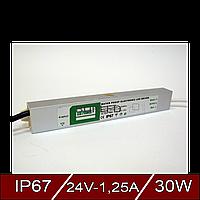 Герметичные блоки питания 24В, 1.25А - постоянное напряжение