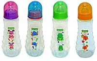 Бутылочка эргономичной формы с силиконовой соской, 250мл 0+ Baby Team (1412)
