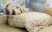 """Детский комплект постельного белья в кроватку из бязи Голд """"Винни Пух"""" бежевый"""