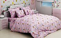 """Детский комплект постельного белья в кроватку из бязи Голд """"Винни Пух"""" розовый"""