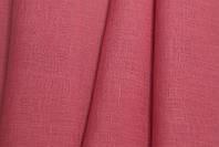 Льняная сорочечная ткань, кораллового цвета