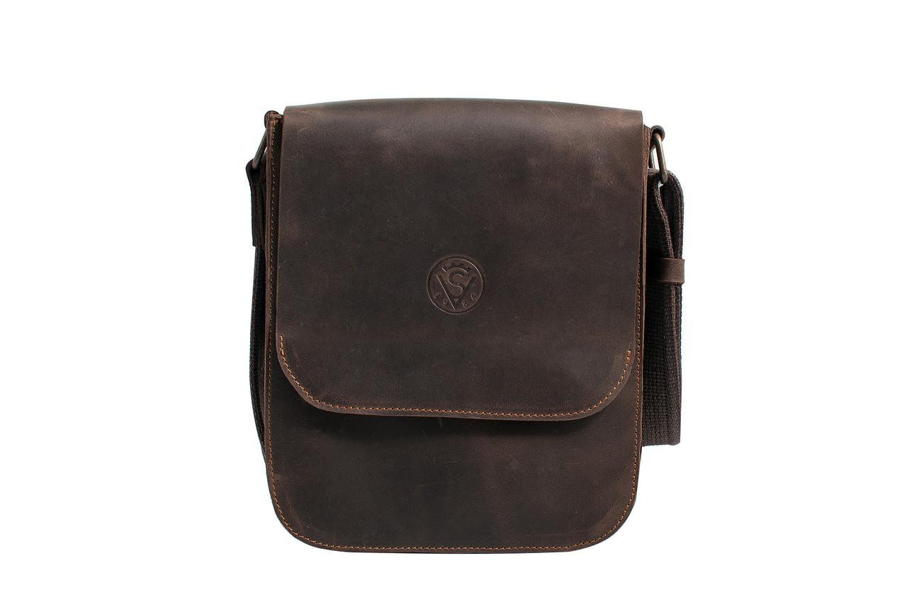 de81cd077d14 Мужская сумка планшетка мессенджер через плечо из натуральной кожи  коричневая - интернет-магазин BLINOFF в