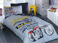 """Полуторный комплект постельного белья с детским рисунком """"Motor Spirit"""" 150х220 из бязи"""