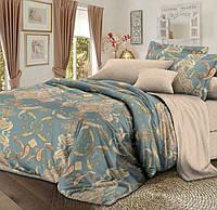 Полуторное постельное белье с простыней на резинке 90/200/25, Одиссея, Сатин