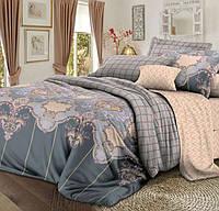 Полуторное постельное белье с простыней на резинке 90/200/25, Сагра, Сатин