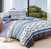Двуспальное постельное белье с простыней на резинке 160*200*34, Аркадия, Сатин 100% хлопок