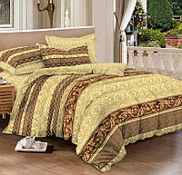 Семейное постельное белье с простыней на резинке 180*200*34, Блайс, сатин