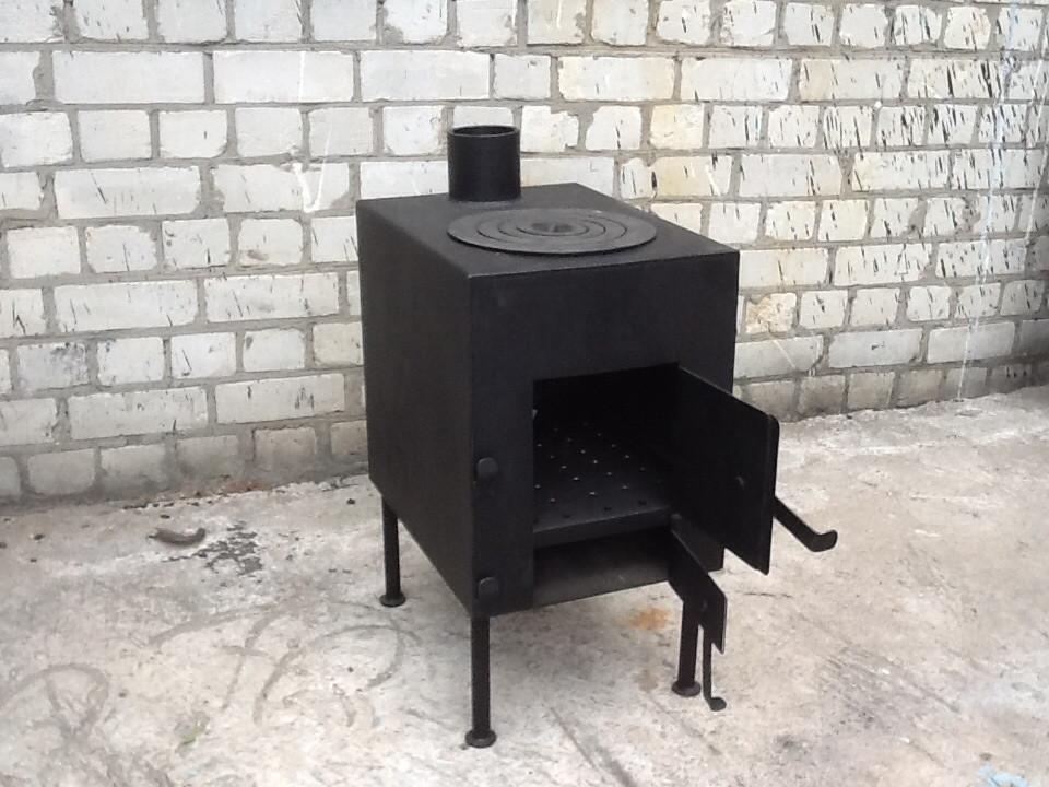 Печка для отопления и приготовления пищи сталь 3мм