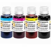 Комплект чернил ColorWay для Epson EU100 BK/C/M/Y UV Dye-based 4 x 100 ml